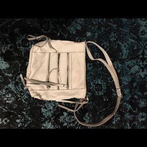 White leather Lucky Brand boho purse